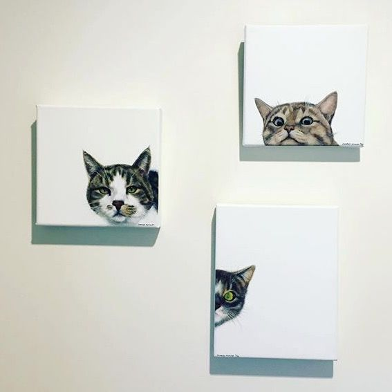 Cheeky cat art by Charles Hannah Art & Design - love it - it makes me smile.