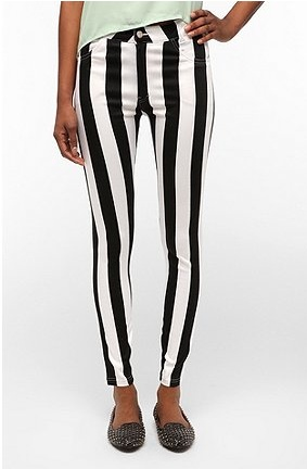 striped pants...not sure if these are radically chic or just plain clown pants. Why do I kinda dig them, then?