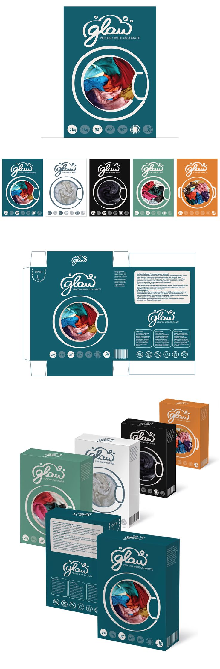 Glan Detergent - Logo and Package Design on Behance