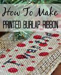 How to Make Printed Burlap Ribbon on eBay.