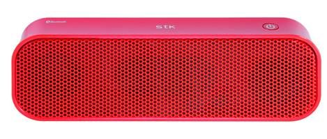 SMC960 Red Bluetooth Stereo Speaker..  This portable Bluetooth stereo speaker is suitable to use with a mobile phone or any other device with Bluetooth.  It has 2 powerful 3W speakers and a music playback time of up to 5 hours, all with a charging time of only 2 hours. It has easy to use previous track / volume down and next track / volume up buttons and a play / pause button.