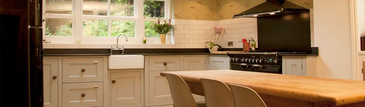 Light and airy bespoke kitchen make for a cottage in Cheshire.  I love the style our clients chose here.  want.