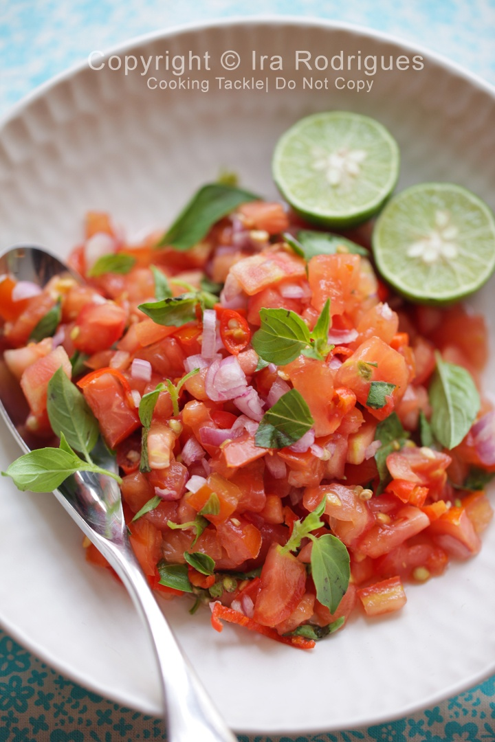 Shallots and tomato relish, fresh and spicy (Sambal dabu-dabu ). Most favorite side dish from Menado/Celebes, Indonesia