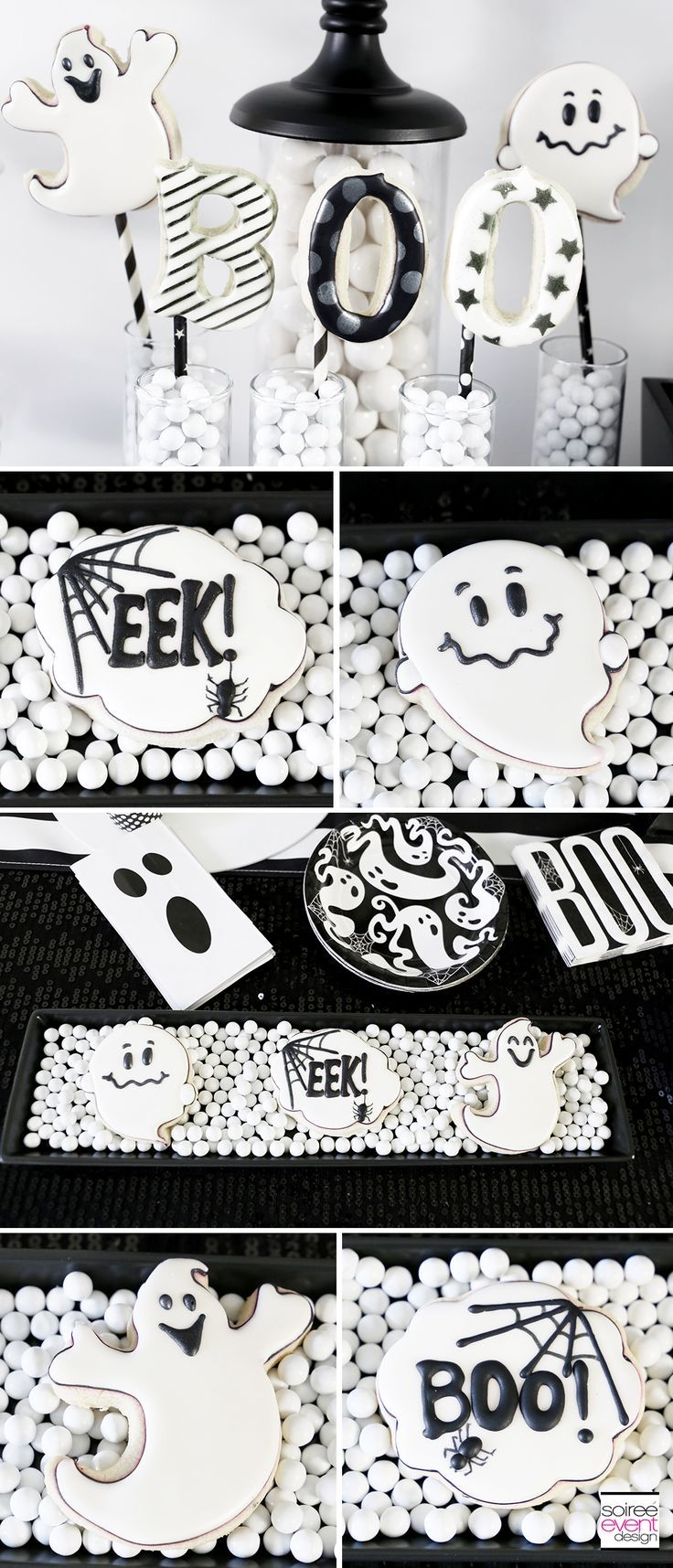 Boo Black And White Halloween Party White Halloween Party Birthday Halloween Party Halloween Party