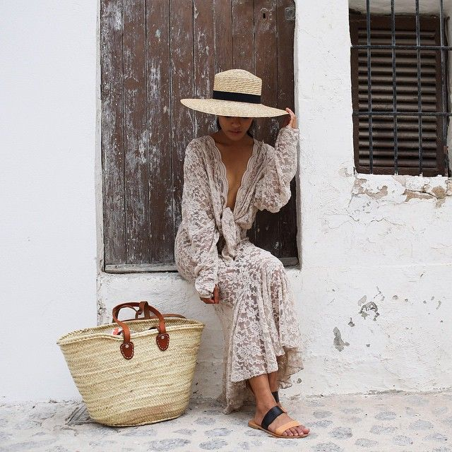 Lust for Life's Olivia Lopez en route to tapas and bottomless sangria in her Joie two-toned Sable Sandals.