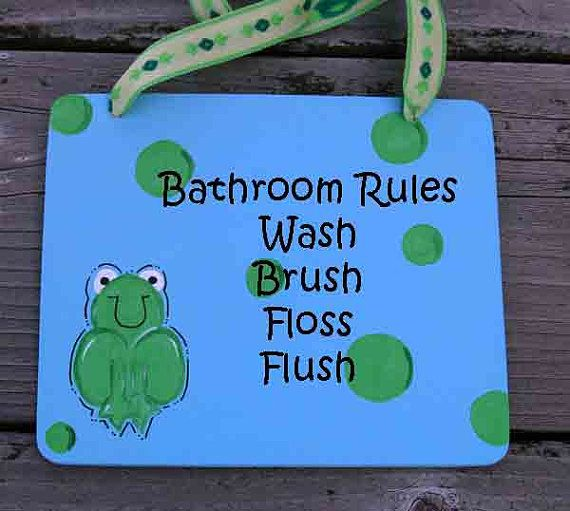 FROG polka dot BATHROOM frogs decor bath sign wall hanger whimsical