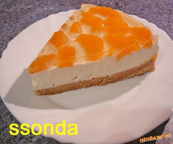 NEPEČENÝ-tvarohovočokoládový dortík s mandarinkami