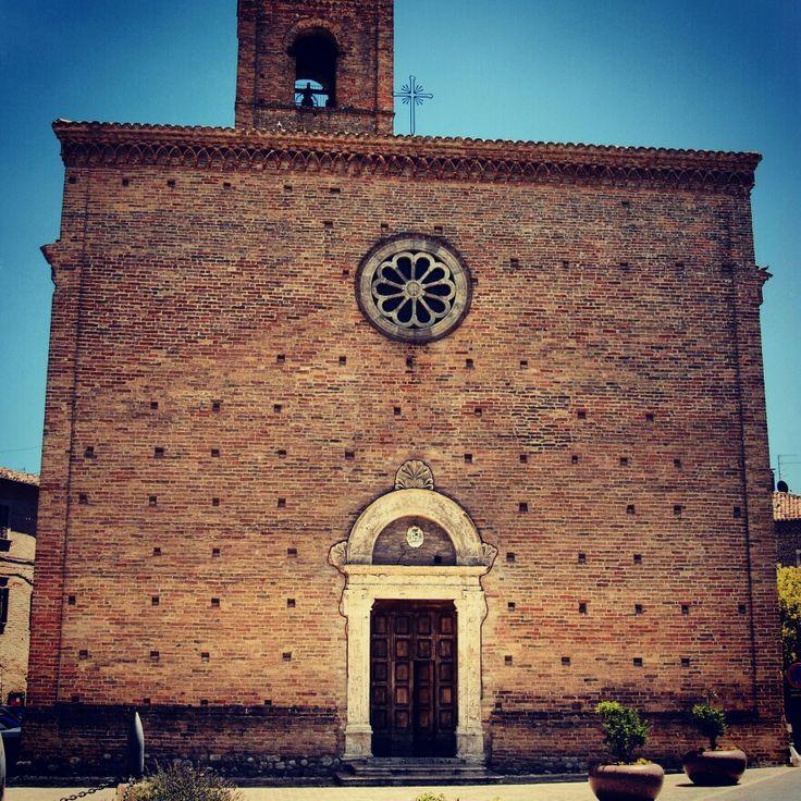 La facciata della Chiesa di San Giovanni Battista #terredelpiceno