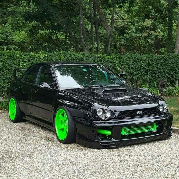 #Subaru #WRX #Modified #Slammed  Aftermarket headlights