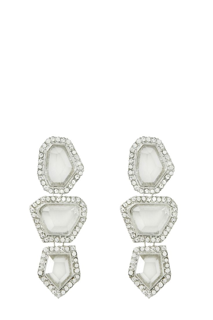 Partykläder | Metallics CRYSTAL SURROUND EARRINGS | Warehouse