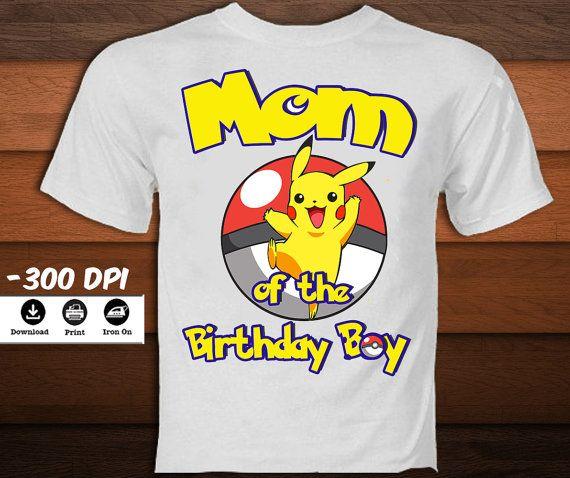 Pokemon Mom of the Birthday Boy by KaleidoscopePrintArt on Etsy
