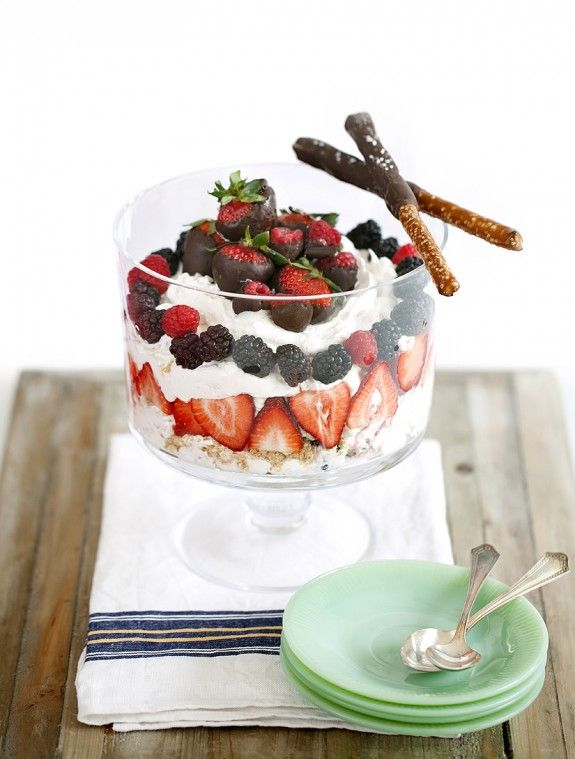 Sweet and Salty RumChata Cheesecake Trifle : Feast Magazine, St. Louis