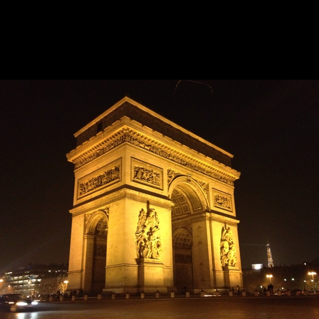 Here's where I got engaged. Arc de triumph - Paris, France