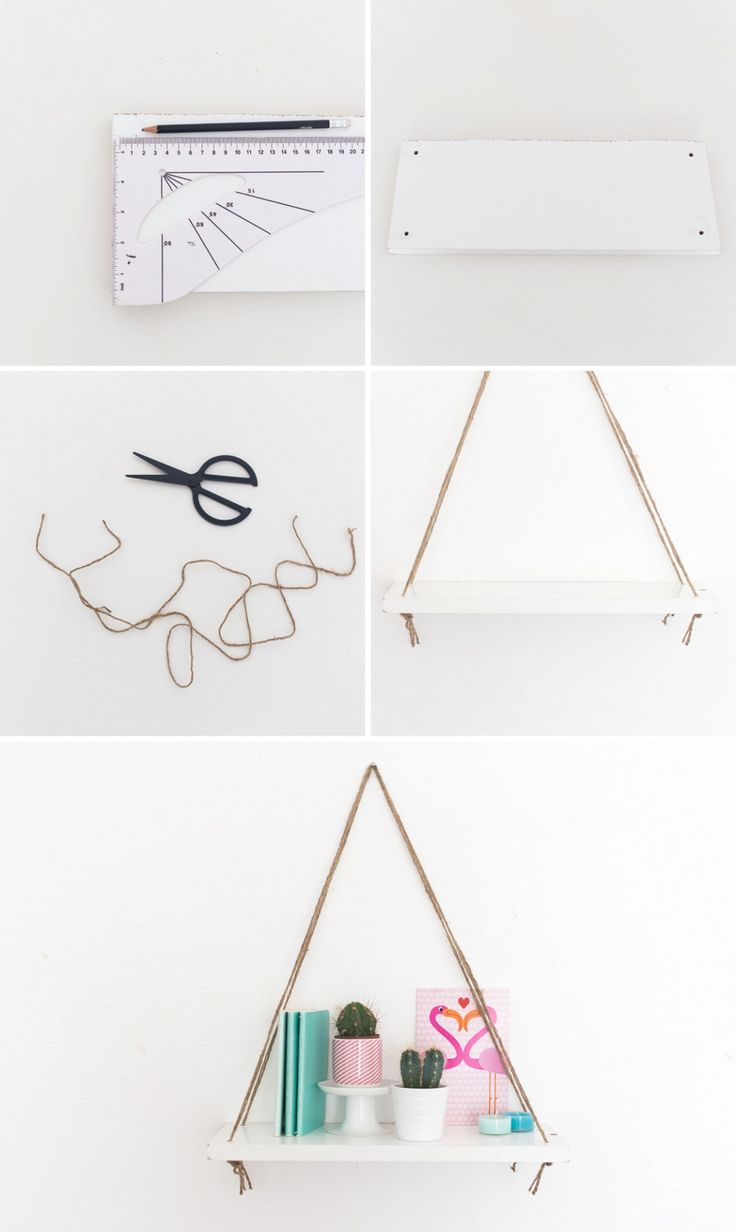 Follow these 4 easy steps to make an Anthro-inspired swing shelf.