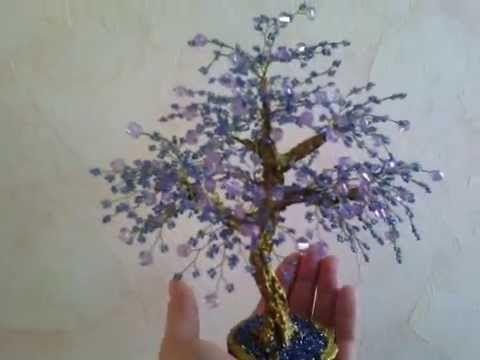 Дерево-сувенир, искусственное дерево, бонсай - YouTube