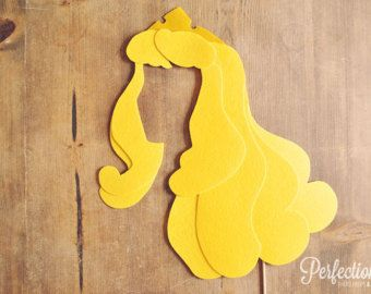 Princess Photo Prop // Fairy Tale Theme Wedding Photo Booth Props // Stick Included // Felt