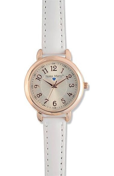 The Nurse Mates Women's Pinwheel Watch has a sophisticated look. With a subtle pinwheel embellishment in the center and easy-to-read numbers, this watch will keep you on-time, in-style.Polyurethan...