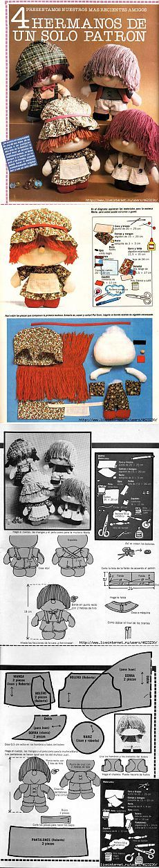 I had a doll like this in the early 60's in was called a Bumpkin! Куколки всякие (фетр,ткань)