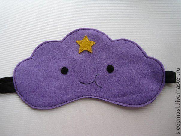 Купить Маска для сна Пупырка - фиолетовый, однотонный, маска для сна, подарок на любой случай, комфорт