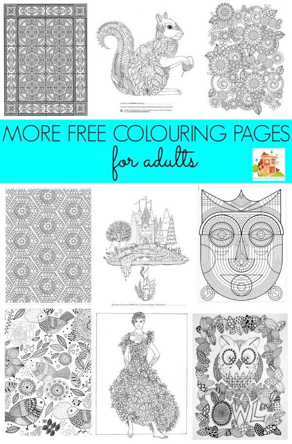 More free colouring pages for adults