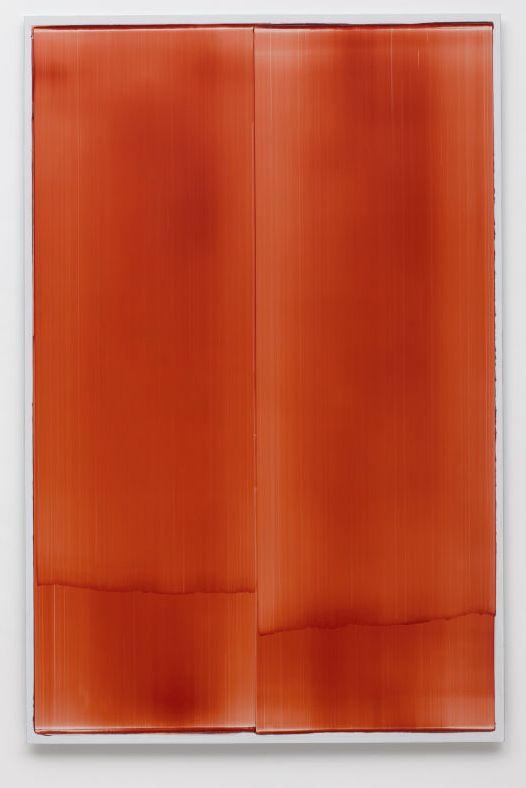 Noel Ivanoff, Slider Deep Red II, 2012, oil on aluminium panel, 1220 x 800 mm