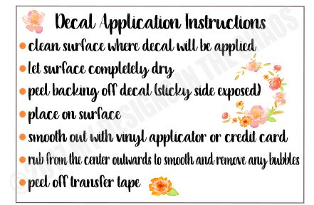 Exhilarating image in decal application instructions printable