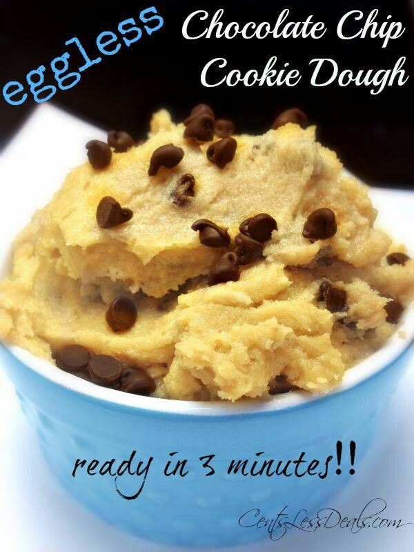 Eggless chocolate chip cookie dough | Food | Pinterest