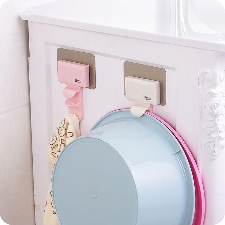 Главная ванная комната настенный умывальник для ног раковина крючки идеями туалет мощные бесследное настенный умывальник для одежды висит горшок для одежды-Таобао