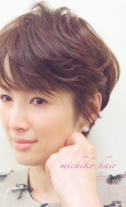 吉瀬美智子 @kagayakurecipe 7 時間7 時間前 いまの髪型はこれ✂︎ 昨日のTVの収録時のお写真