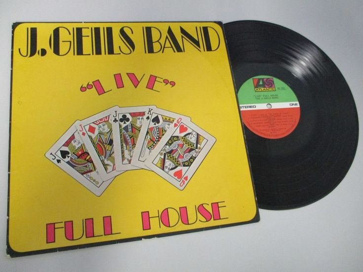 """The J.Geils Band """"Live"""" Full House LP Oz 1972 Atlantic Records 7241 Peter Wolf"""