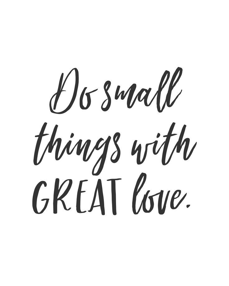 """Do small things with GREAT love"" inspirational quote poster. *affiliate* #quote #inspirationalquote"