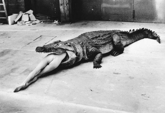 HELMUT NEWTON, The Legend of Virginity, A Scene from Pina Bausch's Ballet, Wuppertal, 1983