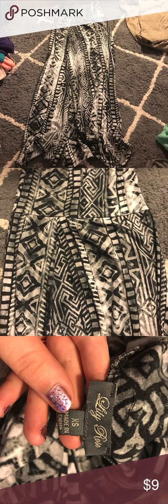 gray and black tribal maxi skirt nwot Charlotte Russe Skirts Maxi