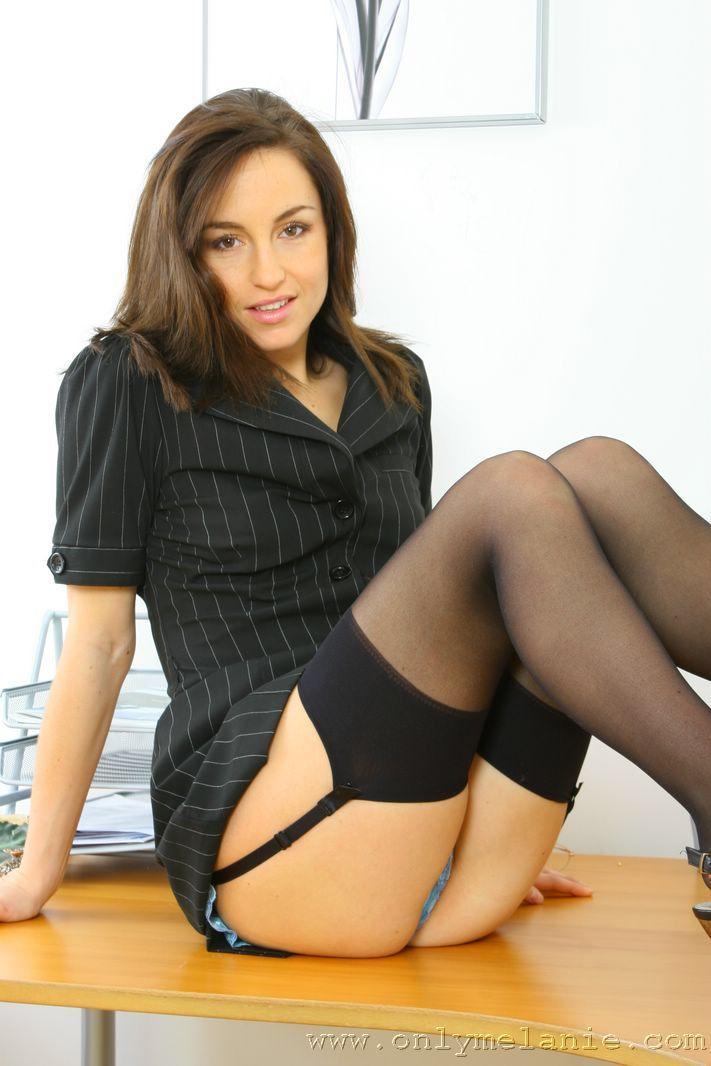 Melanie in stockings
