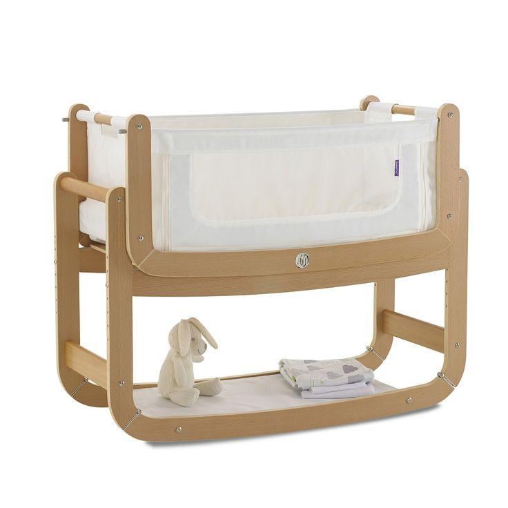 SnuzPod Bedside Crib and Mattress (Natural) - £199