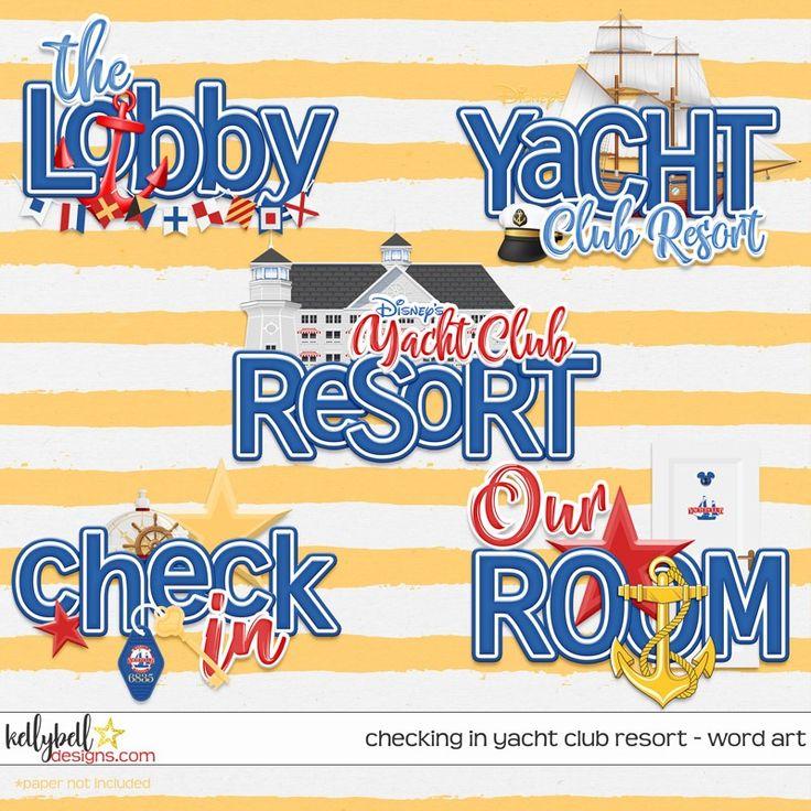Checking In Yacht Club Resort Word Art