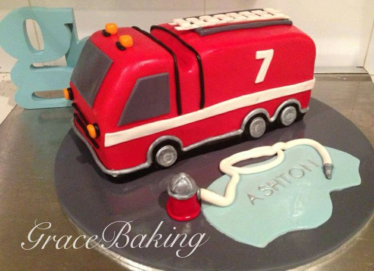 Fire Engine Cake by Grace Baking