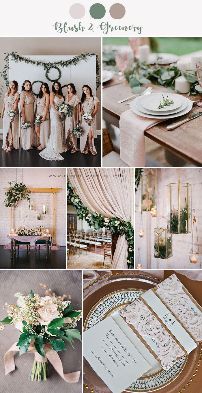 7 Stunning Wedding Color Palettes With Blush Pink Elegantweddinginvites Com Blog In 2020 Popular Wedding Colors Wedding Theme Colors Wedding Colors