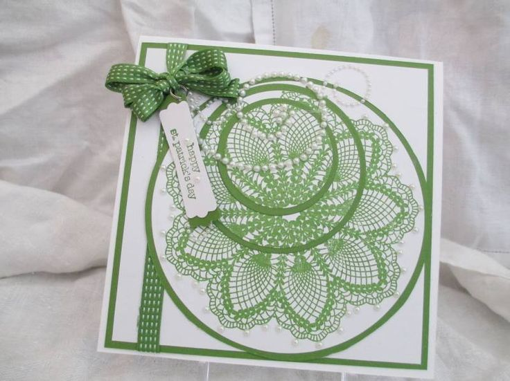 stampin up st patrick's day cards | St. Patrick's Day Doily by GayleWI - Cards and Paper Crafts at ...