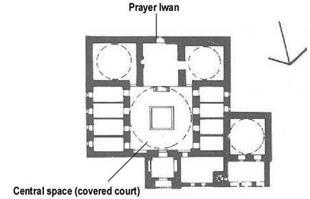 Konya - Plan of Ince Minare Madrasa  1260-65