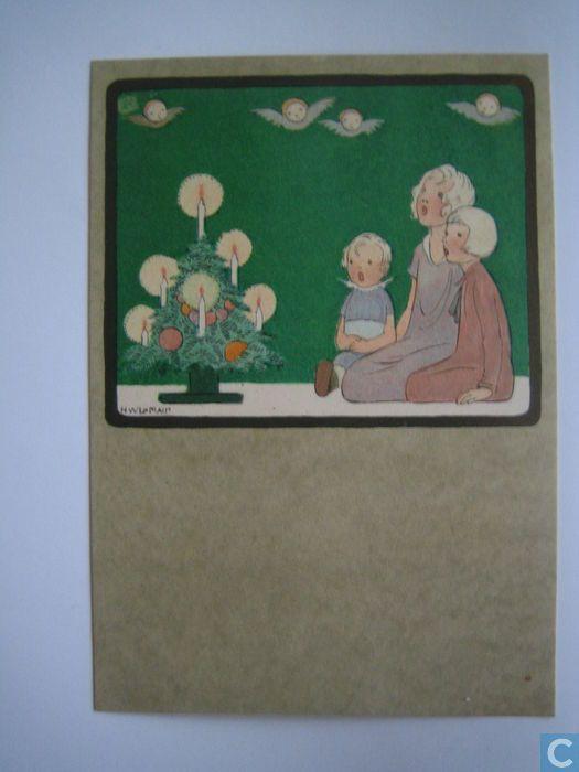 Ansichtkaarten - Voor het kind kaarten - Kerstliedje - 1936 - Ontwerper: Willebeek Le Mair, Henriëtte