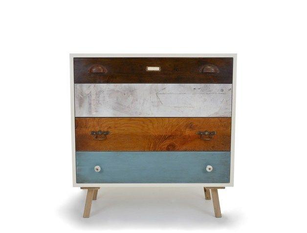 kommoden vintage kommode mit verschiedenen schubladen ein designerst ck von old new style. Black Bedroom Furniture Sets. Home Design Ideas