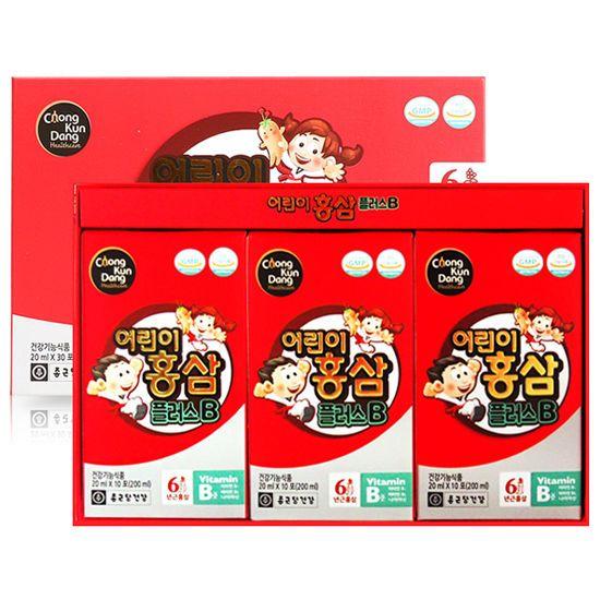 Korean Chongkundang Healthcare 6Years Red Ginseng for Kids Children 20ml X 30ea  #ChongkundangKoreanHealthFood