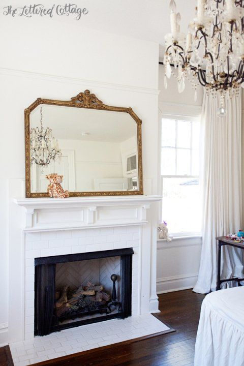 Girls Bedroom Fireplace Crystal Chandelier Antique