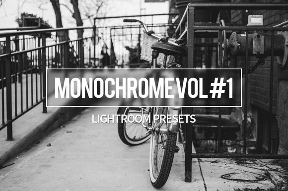 Monochrome Vol #1 - Lightroom by Lost in Introspection on Creative Market