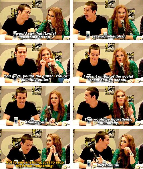dylan and holland - teen wolf
