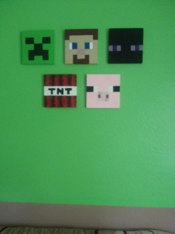 Minecraft, Kids Bedroom, Hand Painted. I Think I Did A