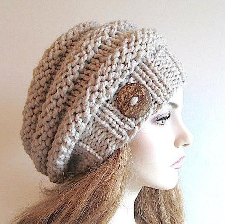 Bulky Slouch Beanie Beret Beehive Hat | Craftsy
