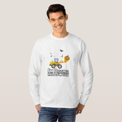 #Pumpkin Face Tractor Halloween Gift Boy Kids T-Shirt - #Halloween happy halloween #festival #party #holiday #kids #children