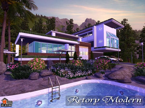 Retory Modern house by Autaki - Sims 3 Downloads CC Caboodle